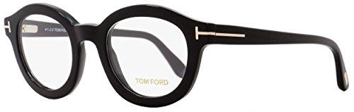 Tom Ford FT5460 Eyeglasses 49 001 Shiny - Ford Round Optical Tom Frame