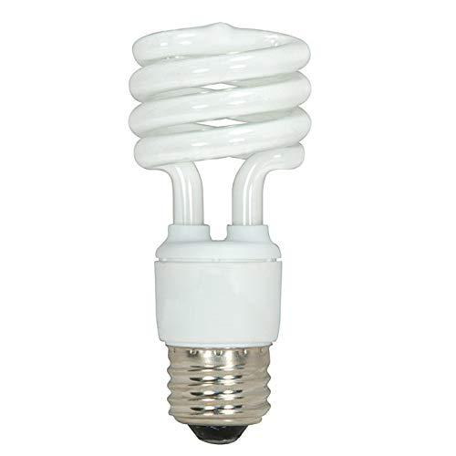 Satco S6236 T2 Mini Spiral Compact Fluorescent Lamp 13 Watt E26 Medium Base 880 Lumens 82 CRI 4100K Cool White