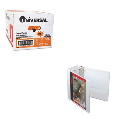 KITCRD10350UNV21200 - Value Kit - Cardinal EasyOpen ClearVue Locking Slant-D Ring Binder (CRD10350) and Universal Copy Paper (UNV21200)