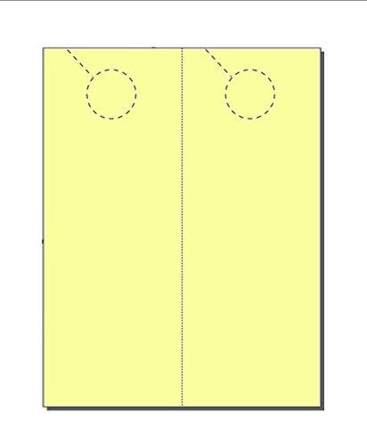 - Door Hangers, Print-Ready, 4.25