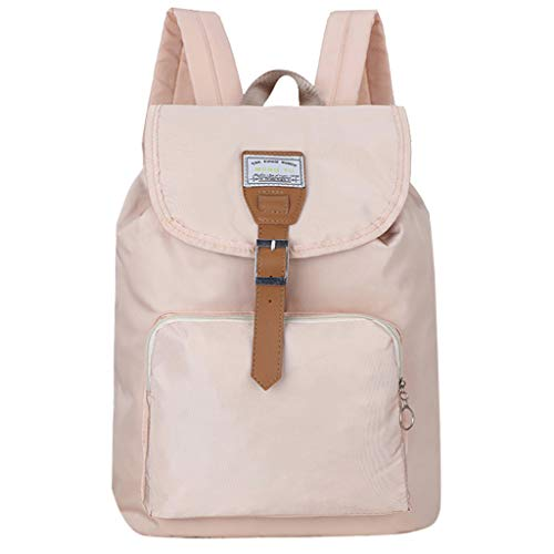 Fashion Women Solid Color Nylon Shoulder Bag Backpack Students School Travel Bag School Bag for Girls Kids Boys Women