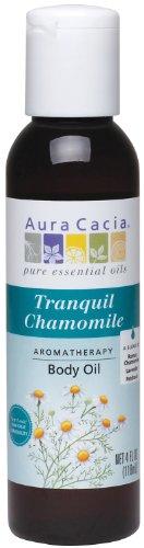 Aura Cacia Body Oil, Tranquil Chamomile, 4 Fluid Ounce Aura Cacia Massage Aromatherapy