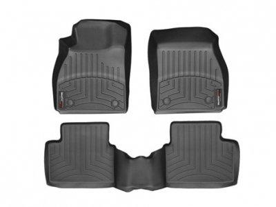 WeatherTech (444681-441392) FloorLiner, Front/Rear, Black (Mustang Weathertech compare prices)