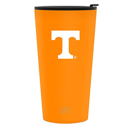 (Simple Modern 16oz Pint Tumbler - Tennessee Volunteers Vacuum Insulated 18/8 Stainless Steel Tailgating Cup Travel Mug - Tennessee)