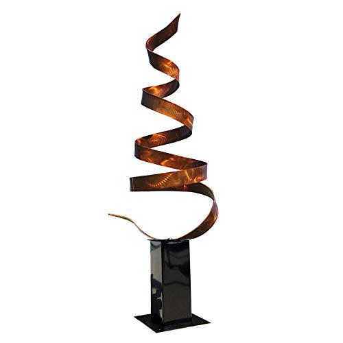 Statements2000 Abstract Modern Copper Freestanding Metal Yard Garden Sculpture – Contemporary Indoor/Outdoor Decor Painted Art – Copper Wisp by Jon Allen