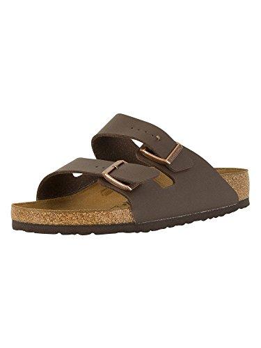(Birkenstock Unisex Arizona Brown Birko Flor Sandals - 10 D(M) US Men)