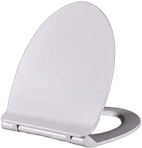 S優雅な便座V/U便座肥厚ユニバーサルトイレ蓋尿素ホルムアルデヒド樹脂トイレカバー、ホワイト-43.2-48.2 * 35 CM