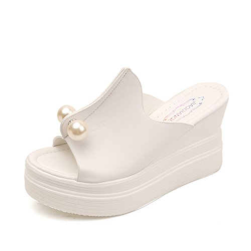 - NeeKer Shoes Fashion Women Shoes Summer Platform Wedge Sandals Gladiator Slippers Thick Heels Chaussure Femme White 7