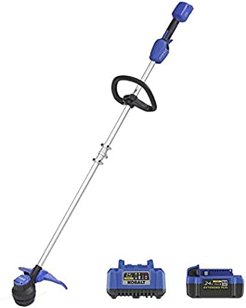 Amazon Com Kt Kobalt 24 Volt Max 12 In Straight Cordless String Trimmer Battery Included Garden Outdoor