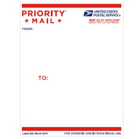 USPS Priority Mail Post Office Peel & Stick - Tracking Usps Priority Shipping
