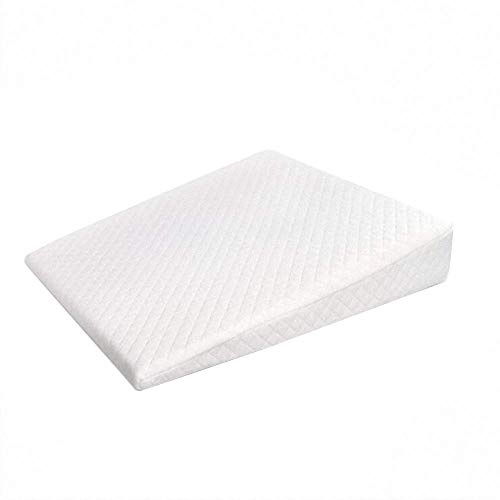 Baby Crib Wedge,Reflux Memory Foam Sleeping Wedge Pillow Infant Sleep Positioner with Removal Waterproof Cotton Cover White from AIFUSI