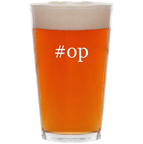 #op - 16oz Hashtag All Purpose Pint Beer Glass