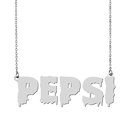 Pepsi Girl Halloween Costume (A Missing Dog Halloween Name Necklace for Party Costume Initial Necklace Personalized Gifts)