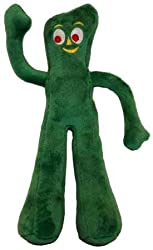 """Gumby is back. Gumby is now available as a plush covered and plush filled dog toy that squeaks. This 9"""" toy is great for all breeds that are not aggressive chewers."""