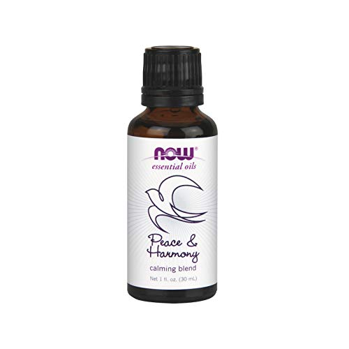 NOW Essential Oils, Peace & Harmony Oil Blend, Calming Aromatherapy Scent, Blend of Pure Essential Oils, Vegan, 1-Ounce
