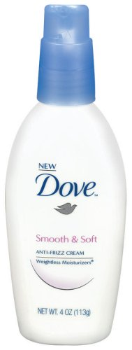 Dove Weightless Moisturizers Smooth and Soft Anti-Frizz Cream, 4 Ounce (113g) ()