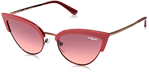 - Vogue Women's Plastic Woman Sunglass Cateye, Bordeaux/Copper, 55 mm