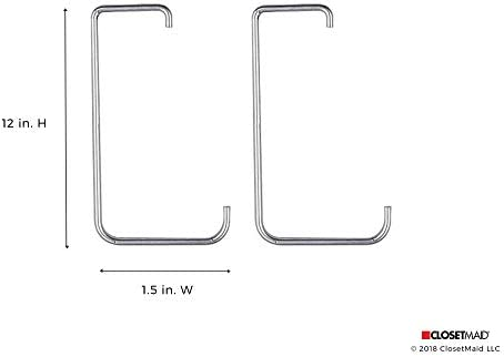2-Pack #3557 Silver ClosetMaid Ceiling and Wall Hooks