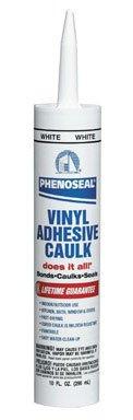 Dap 00005 12 Pack White Phenoseal Does It All Vinyl Adhesive Caulk ()