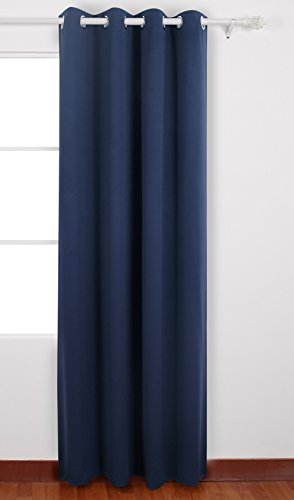 Deconovo Thermal Insulated Grommet Top Window Blackout Curtains Panels for Kids Room 52 By 84 Inch Navy - Blue 52