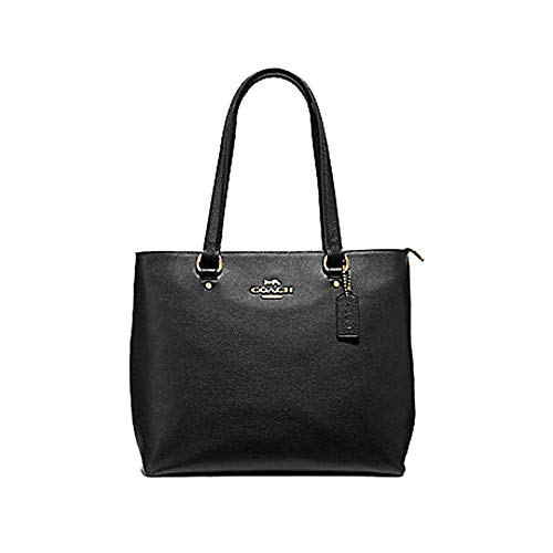 Coach Leather Bay Tote Purse - #F48637 - Black