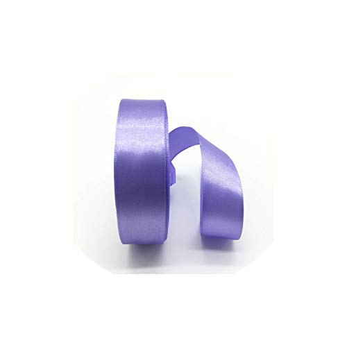 5Yards/Lot 1Inch 25Mm Silk Satin Ribbon Polyester Ribbon Bow Craft Decor Wedding Christmas Party Decoration,Violet