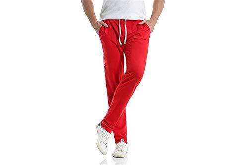 Deportivo Battercake Rojo Pantalón Pantalones Algodón Cómodo Para De Largos Hombres Chándal 7rw8x1Brq6