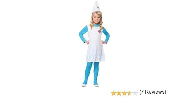 Smiffys - Disfraz de Pitufina™ para niña: Amazon.es: Juguetes y ...