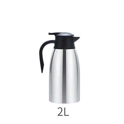 Jarra T/érmica 2 litros Acero Inoxidable Termo de Caf/é Jarras para el t/é y el caf/é