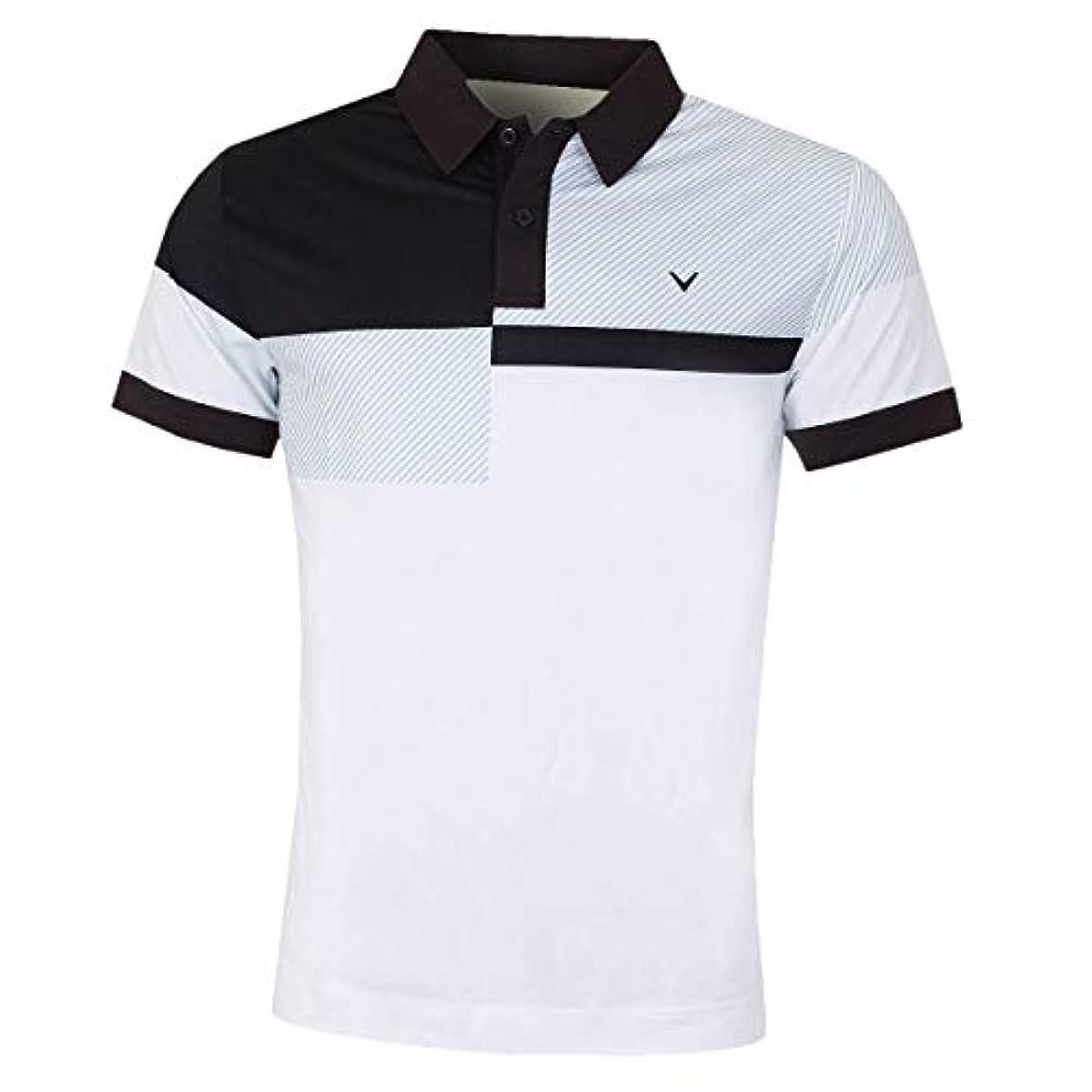 [해외] CALLAWAY 골프 2019 맨즈 리니어 체스토 블럭 드 OPTI-DRI 스트레치 골프 폴로 셔츠 X-LARGE