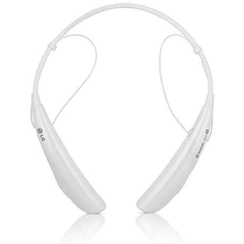 LG Electronics Tone Pro HBS-750 Bluetooth Wireless Stereo Headset - Retail Packaging - White (Renewed) (Lg Tone Pro Stereo Bluetooth Headset White)