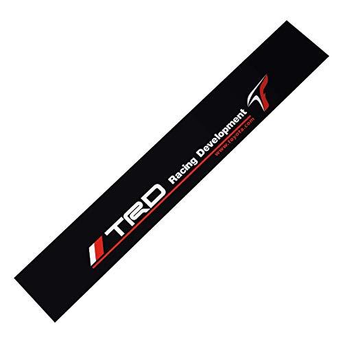 Demupai Front Windshield Banner Decal Vinyl Car Stickers for Toyota TRD Racing Development (Matte Black Background)
