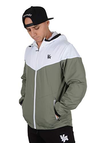 (YoungLA Windbreaker Jacket for Men Waterproof Impermeable Raincoat Fashion Winter Coat 514 Olive X-Large)
