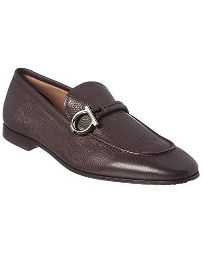 - Salvatore Ferragamo America Gancini Leather Loafer, 10 Ee, Brown