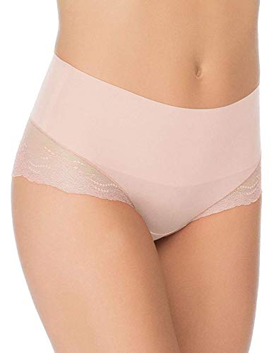 SPANX Undie-Tectable Lace Hi-Hipster Panty, Rosy Pink, m (Lace Hipster Panties)