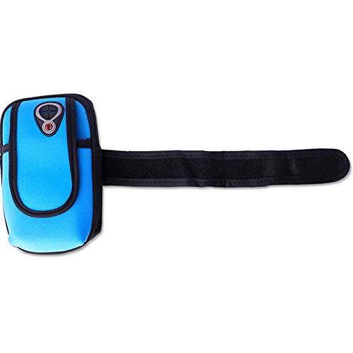 Portable Arm Sky Armband Outdoor Blue DSstyles Wrist Bag Bag Sports Pockets Phone Holder x6RnqUYf