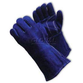 PIP Welder's Gloves, Shoulder Grade W/Cotton Foam Lining, Blue, L (73-7018)