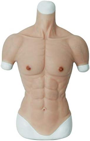ROANYER 偽腹筋 偽筋肉 マッチョ シリコン 筋肉 仮装 コスプレ (Sサイズ) (ホワイト)