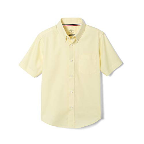 - French Toast Big Boys' Short Sleeve Oxford Dress Shirt, Yellow, 14