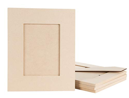 - Juvale Picture Frame - 6-Pack Unfinished Wood Picture Frames, 5x7 Picture Frames for DIY Projects, Ready to Paint, Holds 5 x 7 Inch Photos, 8.6 x 8.5 x 11.5 Inches