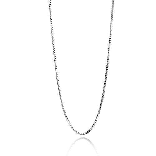 Trusuper Titanium Stainless Steel Cable Box Chain Necklace 1.4mm,sliver 20