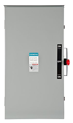 Siemens DTGNF224NR 200-Amp, 2 Pole, 240-volt, 3 Wire, General Duty, Double Throw, Type 3R (200 Amp 3 Phase Manual Transfer Switch)