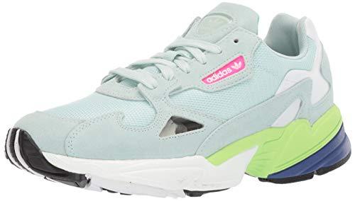 adidas Originals Women's Falcon Running Shoe ice Mint/Black, 8 M US
