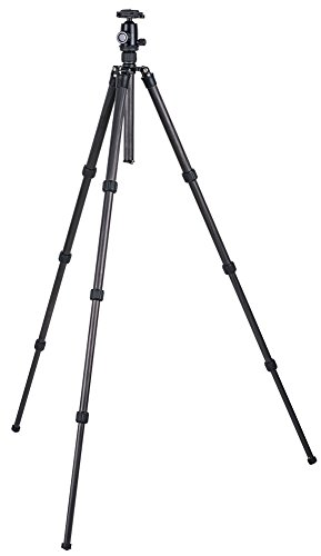 TERRA FIRMA TRIPODS T-CF400-BH100 Carbon Fiber 4 section Tripod Leg Set with Ball Head BH100, Black by TERRA FIRMA TRIPODS