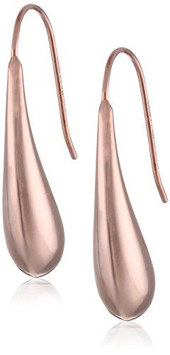 14k Rose Gold Plated Sterling Silver Teardrop Earrings