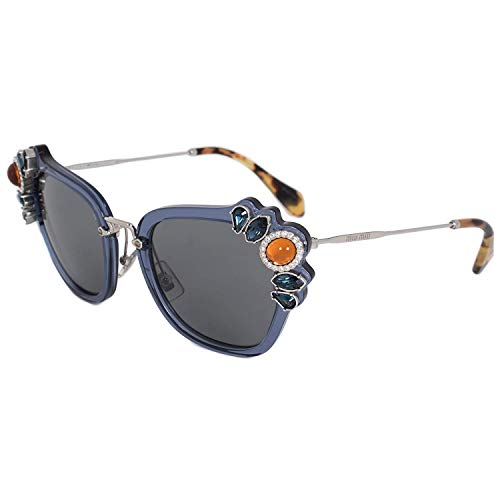 - Miu Miu MU03SS VAV6Q0 Blue MU03SS Square Sunglasses Lens Category 3 Size 51mm