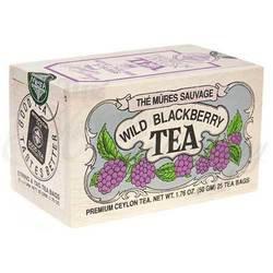 Wild Blackberry Tea 25 Tea Bags in Wooden Mini Crate