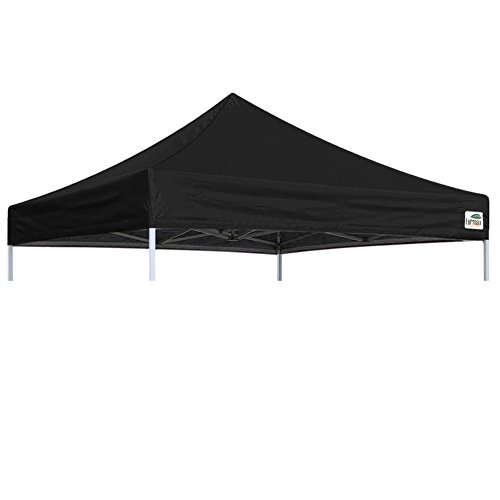 Eurmax Pop Up Canopy Top Gazebo Tent cover Replacement Top Only(Flat Black)