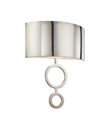 Sonneman 1881.35, Dianelli Wall Sconce Lighting, 2 Light, 40 Total Watts, Polished Nickel ()