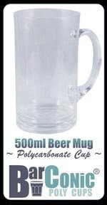 polycarbonate beer mugs - 1